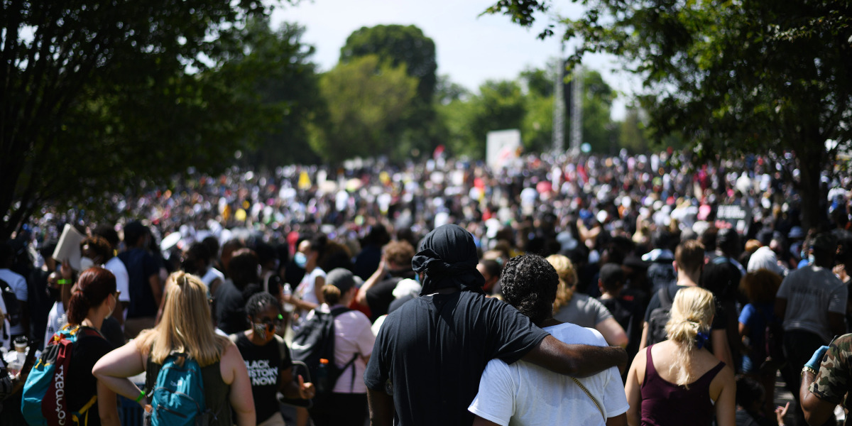 Thousands gather in Washington to protest police violence against Black Americans